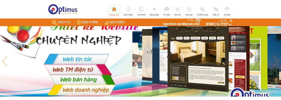 Công ty thiết kế website Optimus