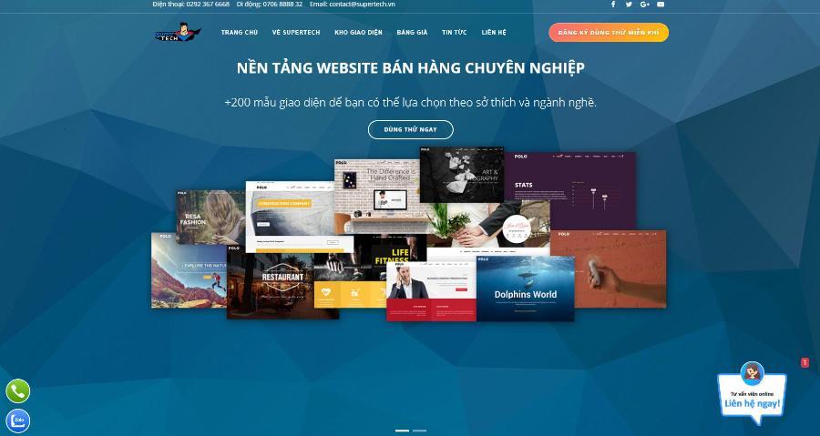 công ty thiết kế website Cần Thơ Super Tech