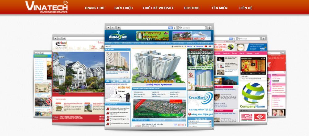 Công ty thiết kế web giá rẻ Vinatech
