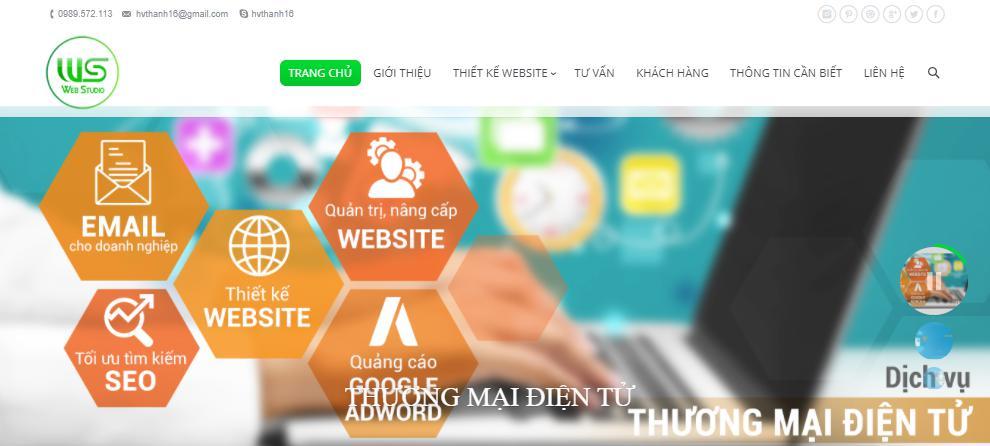 Dịch vụ làm website Cần Thơ Webstudio