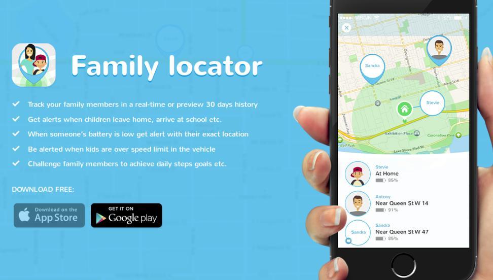 Phần mềm theo dõi điện thoại android Family Locator – GPS Tracker