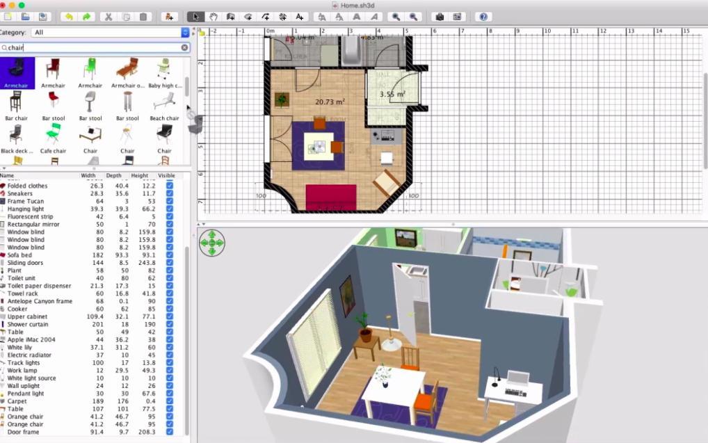 Sweet Home 3D: Phần mềm dựng 3D nội thất nhà ở