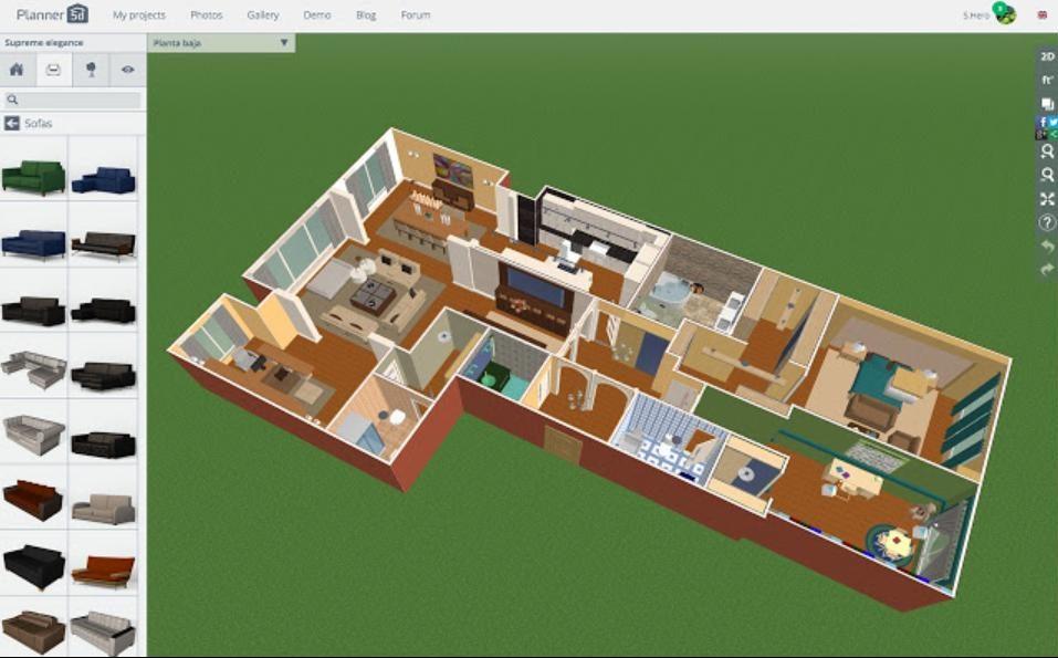 Planner 5D: Phần mềm vẽ phối cảnh chuyên nghiệp