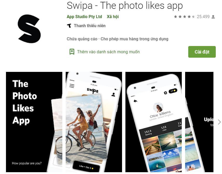 Phần mềm like Facebook Swipa