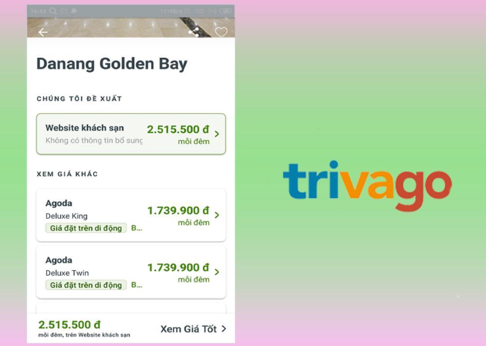 Trivago: Trang web tìm khách sạn gần nhất