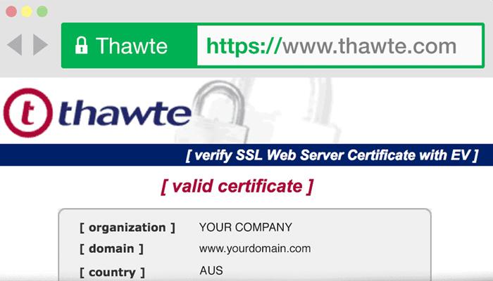 Nhà cung cấp chứng chỉ bảo mật - Thawte